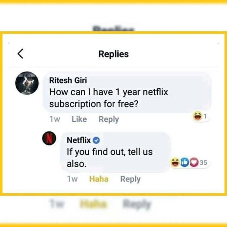 How can i have 1 year netflix subscription for free?